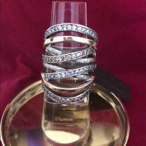 Jewelry - Statement ring 14K/sterling silver/cox multi-band